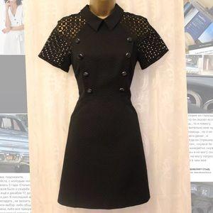NEW! KAREN MILLEN black dress sz US 6